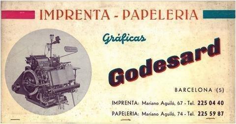 Calendario Del Ano 1965.Quienes Somos Imprenta Godesard